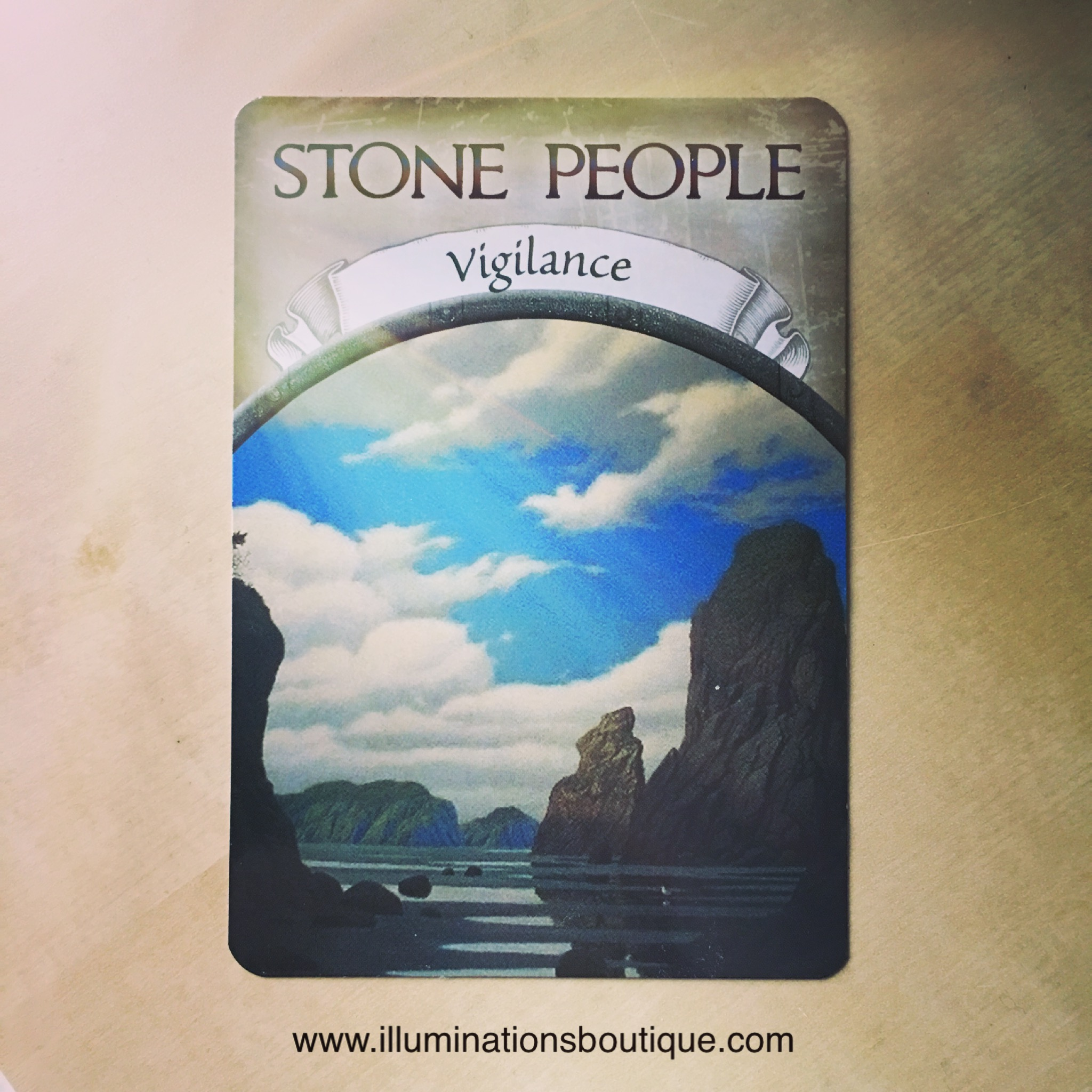 Stone People card